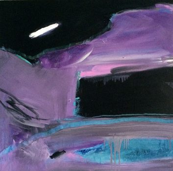Under The Same Moon, Nightwatch, Oil on canvas