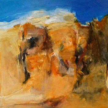 Under The Same Moon, Arid Zone, Oil on canvas