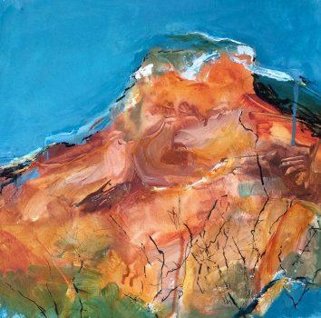 Under The Same Moon, The Ridge, Oil on canvas