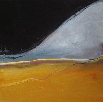 Under The Same Moon, Desert Moon, Oil on canvas