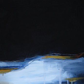 Under The Same Moon, Nite Sky, Oil on canvas