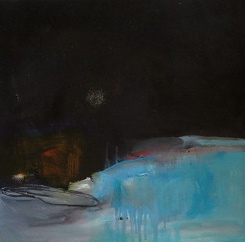Under The Same Moon, Moon Rise, Oil on canvas
