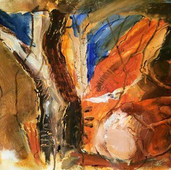 Under The Same Moon, Mulga, Oil on canvas