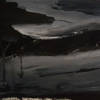 Under The Same Moon, Blue Moon Series 3, Oil on canvas