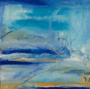 Dunes Of Green, Impulse 1, Oil On Canvas