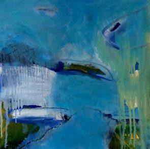 Dunes Of Green, Bombora, Oil On Canvas