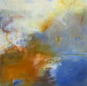 A Selection Of Images From Travelling North, Windstorm, Oil on canvas