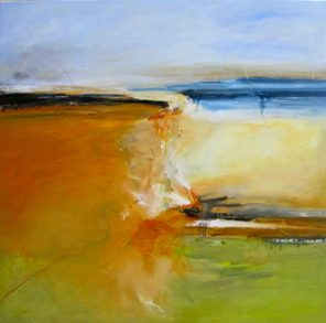 Colour And Earth, East West, Oil on canvas
