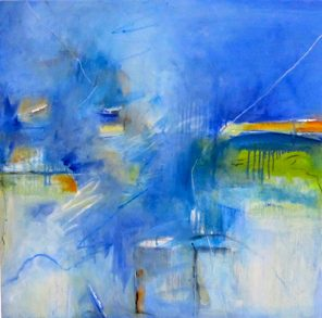 Colour And Earth, Blue Haze, Oil on canvas