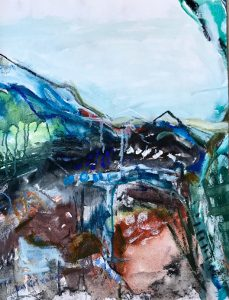 Nomadic, Pittwater Story 1 Oil on canvas