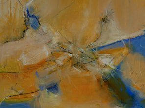 1010 Exhibition, Aerial, Oil on canvas