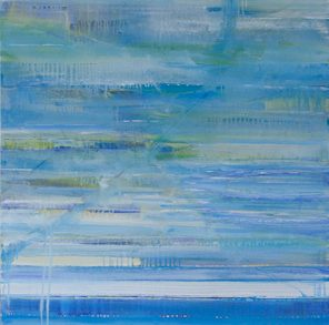 1010 Exhibition, Aqua Limed, Oil on canvas
