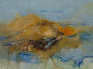 Sicily And Stone, Aeolian Mist, Oil on canvas