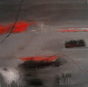 Sicily And Stone, Molten, Oil on canvas