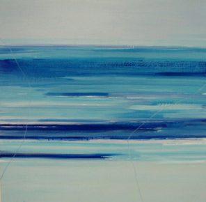 Sicily And Stone, Aqua Azzuro, Oil on canvas