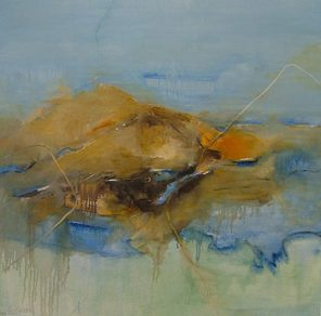 Sicily And Stone, Aeolian Mist, Oil on canvas