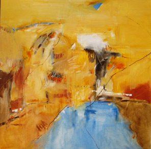 Sicily And Stone, Aqua Vita, Oil on canvas