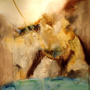 Sicily And Stone, The Cave, Oil on canvas